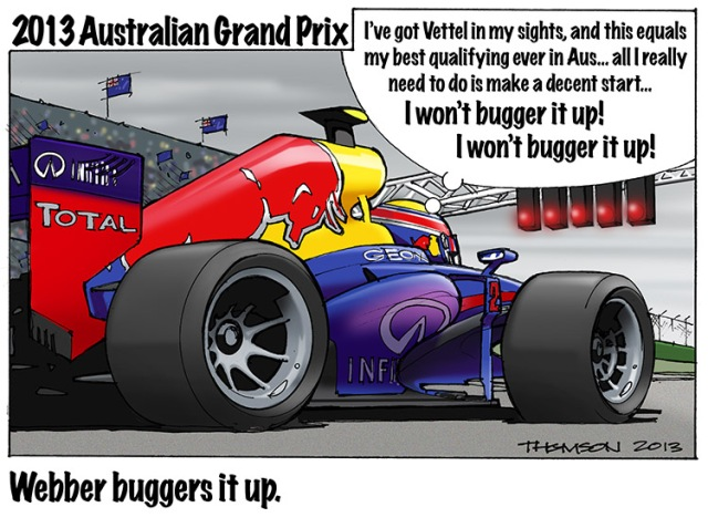 2013 Australian GP Cartoon