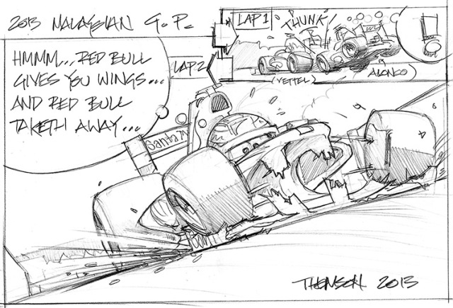 2013 Malaysian Grand Prix Cartoon - Alternate