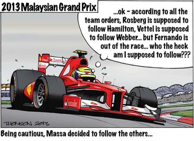 2013 Malaysian Grand Prix Cartoon