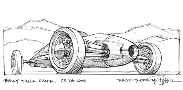Belly tank racer concept