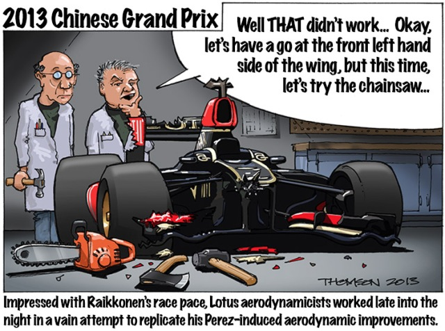 2013 Chinese Grand Prix Cartoon