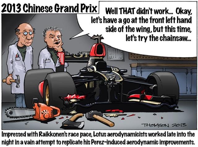 2013 Chinese Grand Prix Cartoon