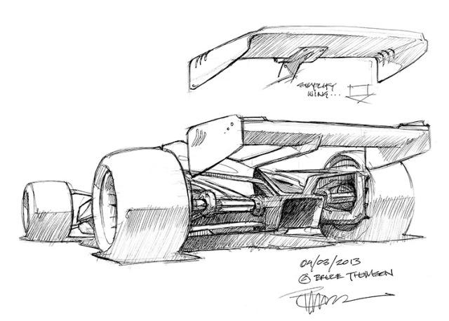 F1 concept rear Bruce Thomson