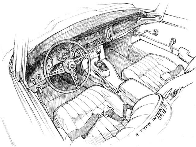 E Type Interior