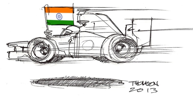 Indian Grand Prix cartoon (not)