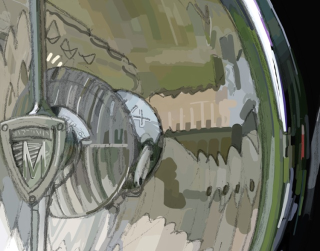 Rolls Royce Headlamp close up (see next post)