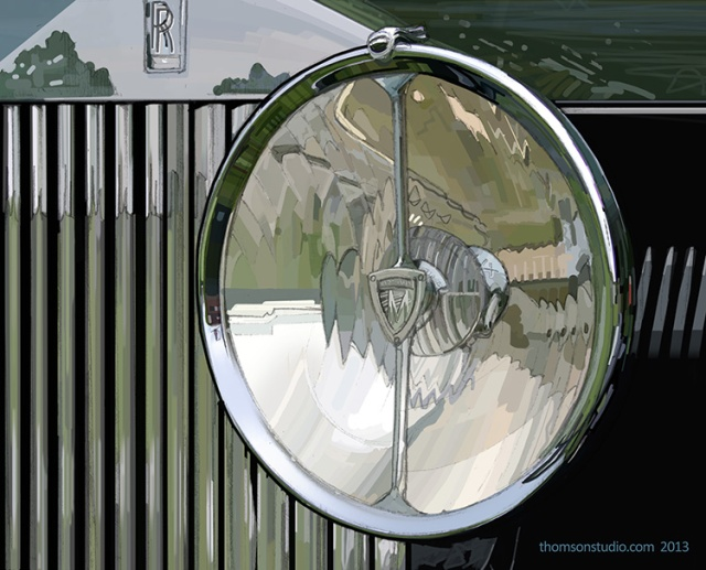 Rolls Royce Headlamp