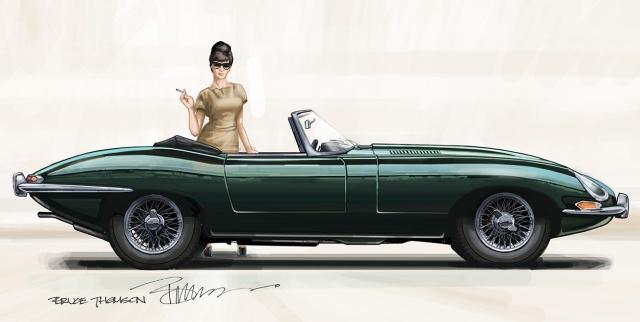 E Type Painting colour test