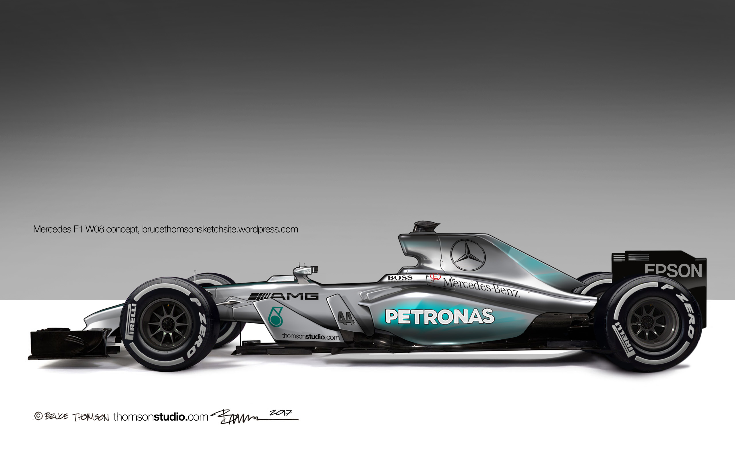 Mercedes w08 f1 wallpaper 7