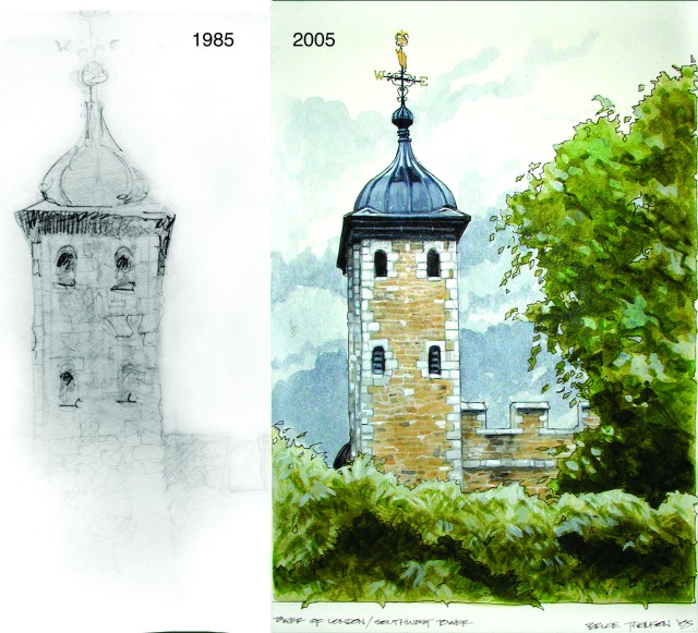 Tower then and now