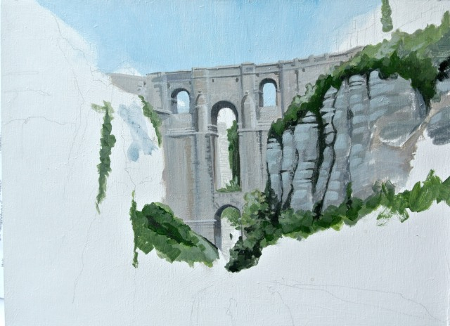 Bridge at ronda (wip)